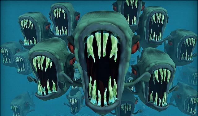 人食い魚のイメージ
